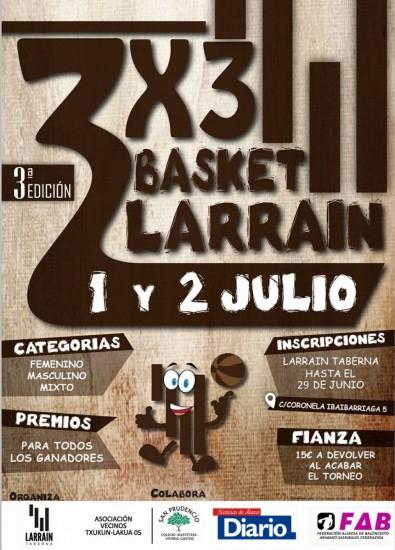3X3 LARRAIN SASKIBALOIA