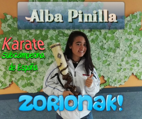 Alba Pinilla, subcampeona de España