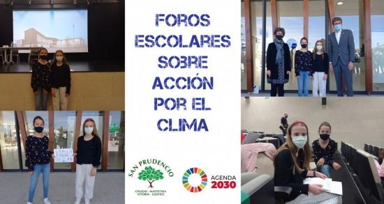 SAN PRUDENCIO EN LOS FOROS ESCOLARES SOBRE ACCIÓN POR EL CLIMA CON EL ALCALDE