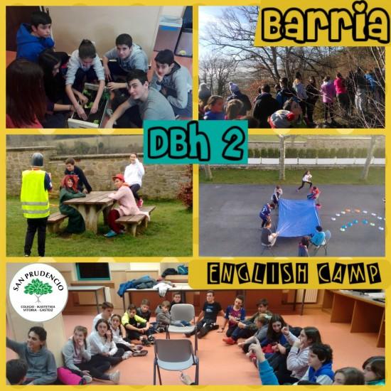 DBH 2 mailako ikasleak Barrian