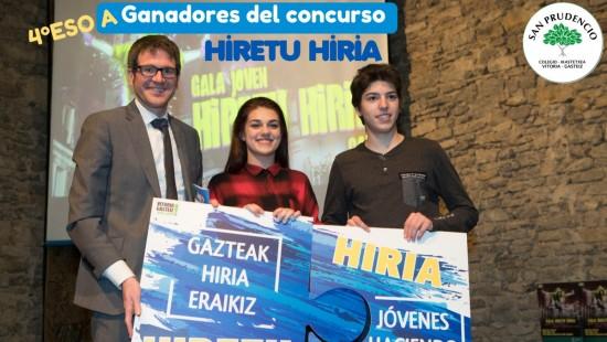 Los alumnos de 4ºESO A ganan el concurso Hiretu Hiria