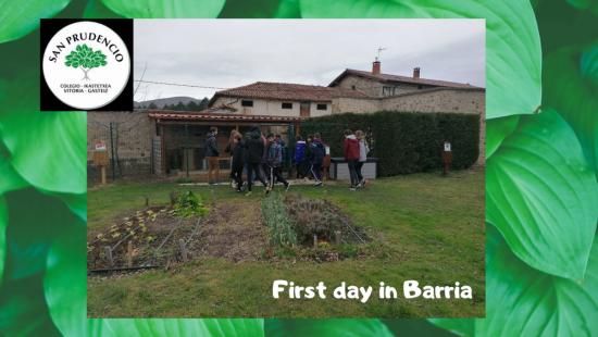 Primer día en Barria