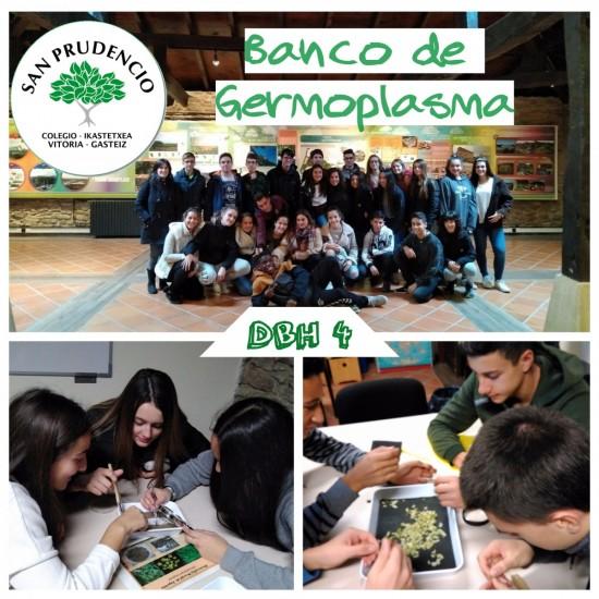 Los alumnos de Biología de 4ºESO en el banco de Germoplasma