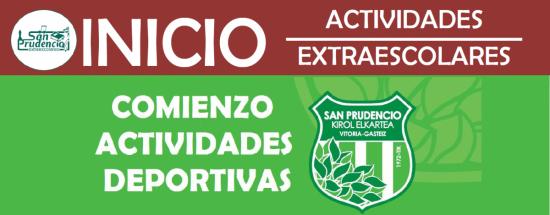 INICIO DE ACTIVIDADES EXTRAESCOLARES Y DEPORTIVAS