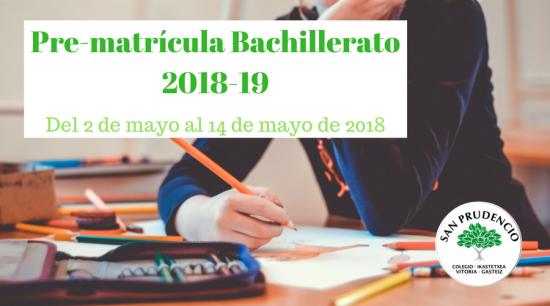 2018-19 ikasturterako BATXILERGORAKO inskripzioak