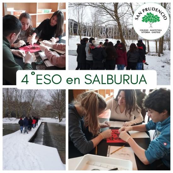 Los alumnos de biología de 4ºESO en Salburua