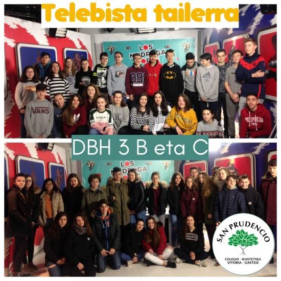 Los alumnos de 3ºESO en el taller de televisión