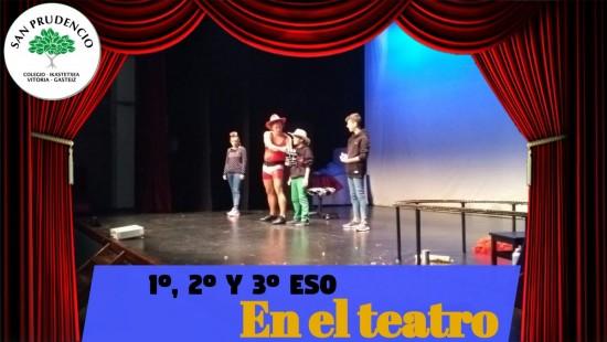 Los alumnos de 1º, 2º y 3º ESO en el teatro
