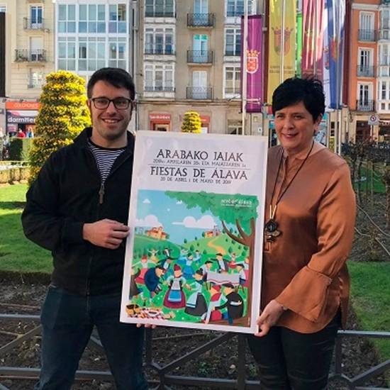 Dani Urraca, antiguo alumno del Colegio es el autor del Cartel de las Fiestas de San Prudencio y Estíbaliz.
