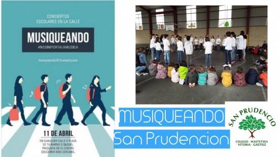 ¡¡SAN PRUDENCIO, PRIMER COLEGIO DE EUSKADI EN PARTICIPAR EN LA ACTIVIDAD MUSIQUEANDO!!