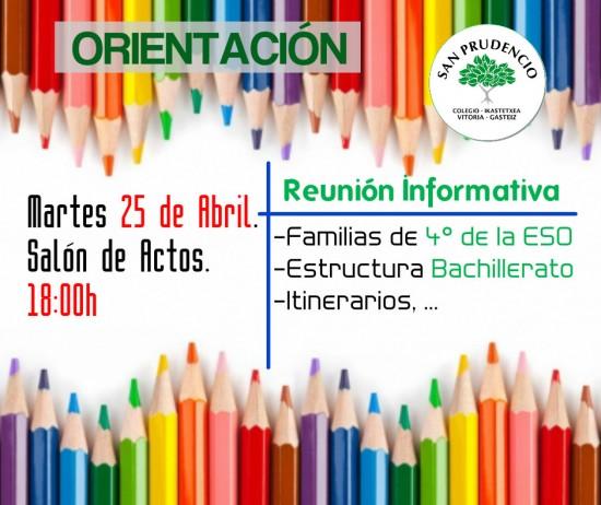 Reunión informativa para familias de 4º de ESO