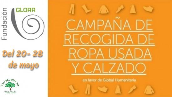 CAMPAÑA DE RECOGIDA DE ROPA USADA Y CALZADO - FUNDACIÓN GLORR-.
