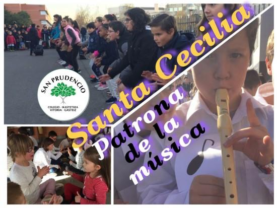 Santa Cecilia, patrona de la música.