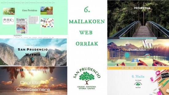 ¡¡¡El alumnado de 6º hemos creado páginas web!!!