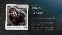 Borja Lázaro, ikasleohia, eta Colombian desagertutari buruzko erreportajea (Tve1)