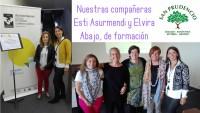 Elvira Abajo y Esti Asurmendi en las jornadas de verano formación de la UPV.