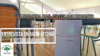 Bittor Garaialderi elkarrizketa Radio Vitorian: San Prudentzio Ikastetxeak HEPA iragazkiak instalatu ditu