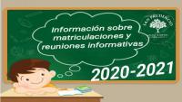FECHAS PRE-MATRICULA Y REUNIONES INFORMATIVAS PARA EL CURSO 2020-2021